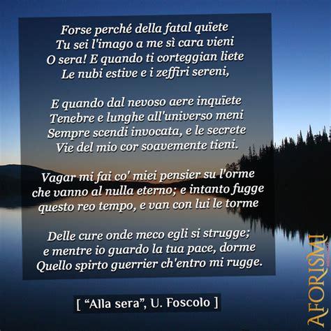 Analisi Testo Foscolo by Alla Sera Ugo Foscolo