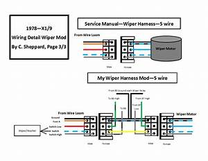 Schematics For 1978  9 Headlight  Wiper Mods