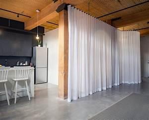 Separation Salon Chambre : espace atypique appartement loft r nov d co ~ Zukunftsfamilie.com Idées de Décoration