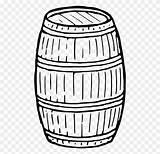 Barrel Drawing Coloring Keg Wine Clipart Computer Icons Clip Sketch Pages Wooden Transparent Template sketch template