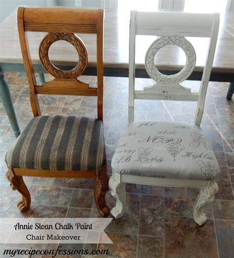 chalk paint chair makeover my recipe confessions