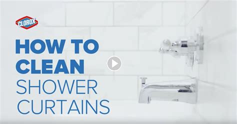how to clean shower curtains clorox