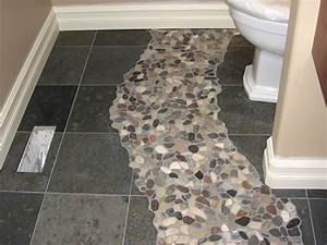 pebble floor gray floor and floors on pinterest With cleaning river rock shower floor