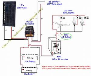 Electrical Technology  Parallel Connection Of Batteries With Solar Panel Or How To Wire 12 V