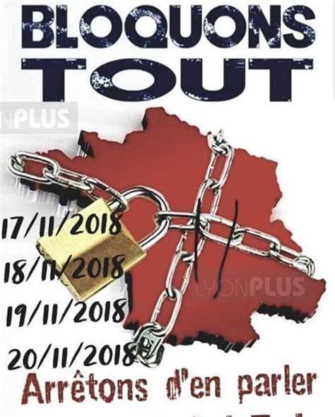 oui au blocage du 17 novembre 2018 fil info appel au blocage le 17 novembre les rhodaniens s organisent