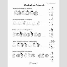 Another Thanksgiving Patterns Worksheet (k2nd)  Squarehead Teachers