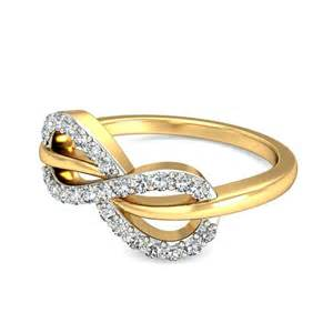 curved engagement ring infinity design engagement ring in yellow gold jewelocean