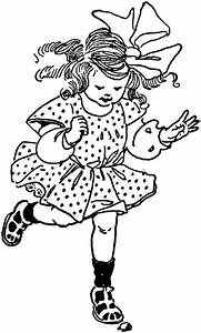 Girl Hopping | ClipArt ETC