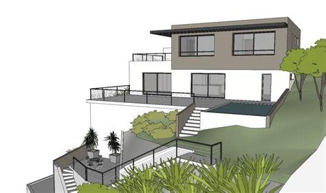 plan maison contemporaine terrain pente 28 images maison contemporaine sur un terrain en