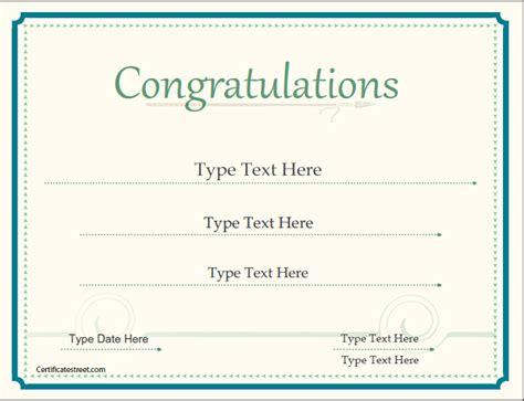 congratulations certificate templates certificate street free award certificate templates no