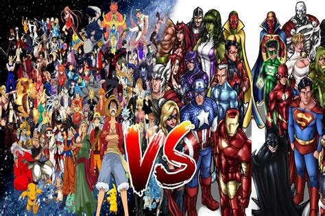 Anime Dc Anime Vs Marvel And Dc By Regnoart On Deviantart