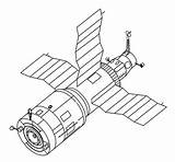 Salyut Saljut Coloring Space Drawing Svg Nasa Satellite Wikipedia Salut Raumstation Rekord 1973 Mir Archivo Wikimedia Commons Stations Russian Facts sketch template