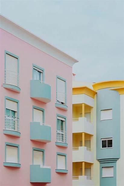 Pastel Minimal Building Wallpapers Aesthetic Architecture Minimalist