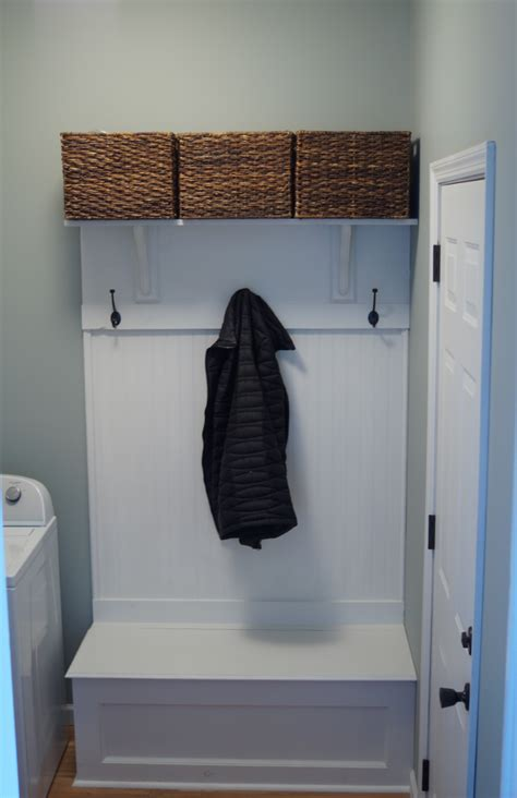 diy mudroom storage bench  coat rack