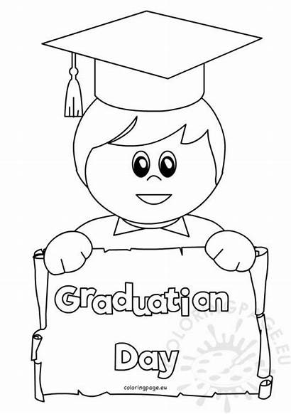 Graduation Boy Student Happy Coloring Clip Class