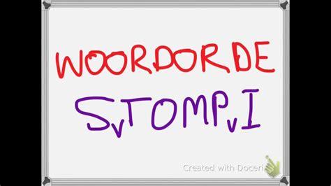 afrikaans woordorde word order stompi youtube