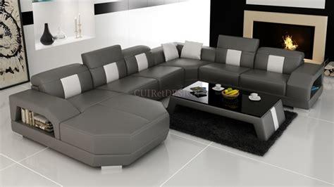 canapé modulable convertible canapé d 39 angle panoramique miami en cuir design