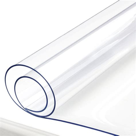 clear plastic table protector yazi pvc clear tablecloth waterproof table protector