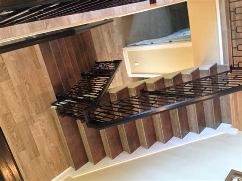 gulf tile s porcelain wood tile stairs flooring project