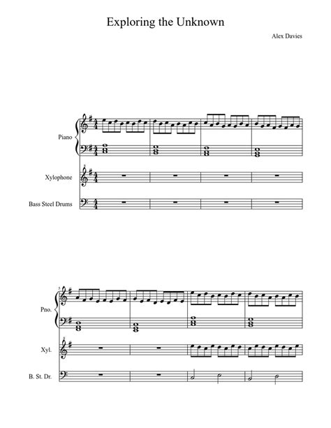 The top 5 of march with bruno mars, adele & more! Exploring the Unknown Sheet music for Piano, Percussion   Download free in PDF or MIDI ...