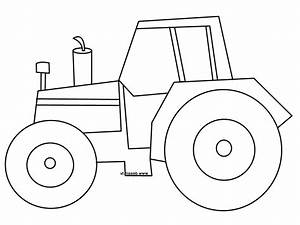 Drawn tractor simple - Pencil and in color drawn tractor ...