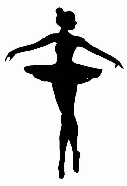 Ballerina Clipart Ballet Silhouette Clip Dancing Dancer