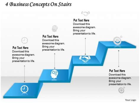 business  diagram  business concepts  stairs