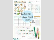 Daily Visual Schedule for Kids Free Printable For kids