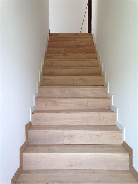 habillage d escalier beton en parquet massif a lyon