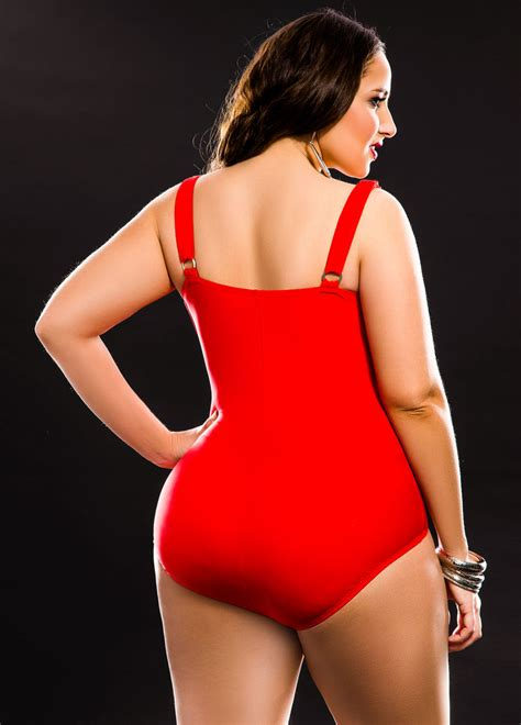 red swimsuit solid red one piece swimsuit plus size swimsuits ashley