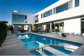 Modern Houses With Pool White Stucco Modern House In Venice California By Dennis Gibbens