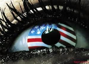 American Flag Eye Contact