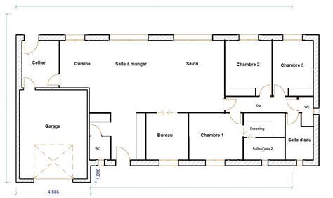 plan maison 120m2 3 chambres plan maison plain pied 120m2