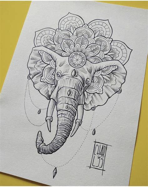 elephant mandala tattoo tattoo ideas pinterest