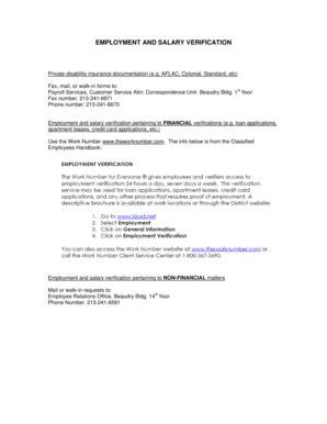 standard form 3107 2 standard verification of employment form templates