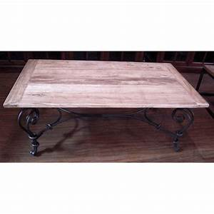 Table Basse Fer Forgé : table basse pied fer forge plateau style chine c2303nat dans tables ~ Teatrodelosmanantiales.com Idées de Décoration