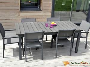Table De Jardin Aluminium 12 Personnes : salon de jardin en aluminium et composite watson sur ~ Edinachiropracticcenter.com Idées de Décoration