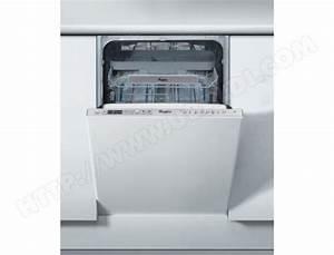 Lave Vaisselle Tout Integrable : whirlpool adg522x lave vaisselle tout integrable 45 cm ~ Nature-et-papiers.com Idées de Décoration