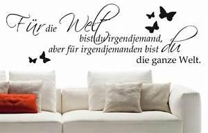 Wandtattoo Für Schlafzimmer : wandtattoo f r die welt bist du schlafzimmer w152 85x27 cm schwarz ~ Buech-reservation.com Haus und Dekorationen