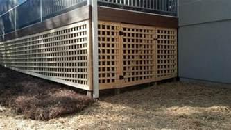 custom lattice with door a deck hardscape and masonry installation decking