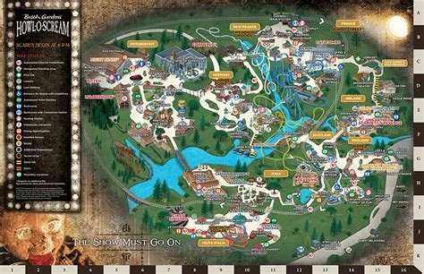 2016 howl o scream map busch gardens williamsburg