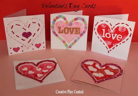 Valentine's Cards for Preschoolers to Make - Red Ted Art ...
