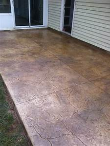 Fractured earth stamp and color concrete patio sites for Colored concrete patio diy