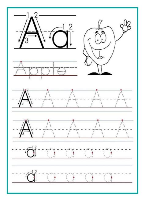 kindergarten alphabet tracing worksheets pdf kidz activities