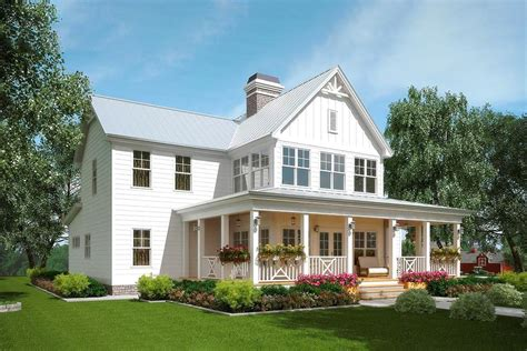 Plan 92381MX: A Honey of a Farmhouse in 2020 Small
