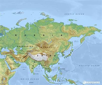 Asia Map Physical Maps Blank Pdf Countries