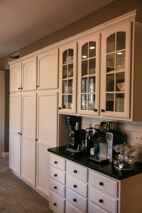 A coffee bar can also become a small kitchen if. Coffee bar and pantry storage   Coffee bar home, Coffee bar, Classic kitchen design