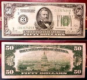 1934 50 Dollar Bill