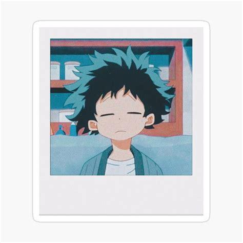 izuku midoriya polaroid sticker  dayna   anime printables anime stickers anime