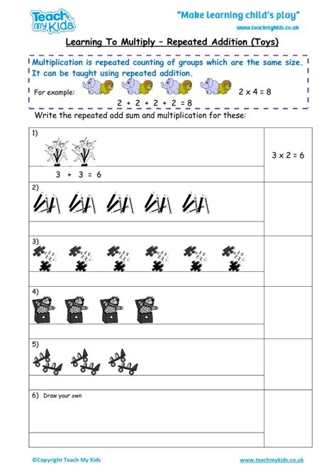 learning to multiply repeated addition mixed tables